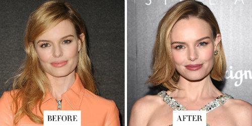 Diễn viên Kate Bosworth làm ngắn mái tóc của mình với kiểu bob đầy trẻ trung và hợp thời trang.
