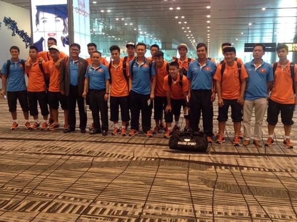 U23 Việt Nam đã tới Singapore.