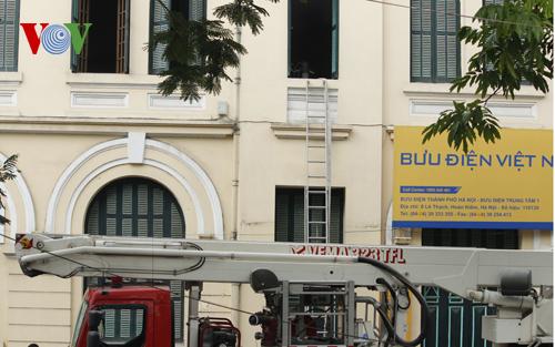 Cửa sổ văn phòng nơi xảy ra cháy