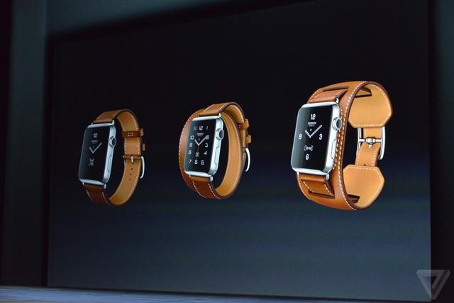 Apple Watch với dây da thời trang của Hermes
