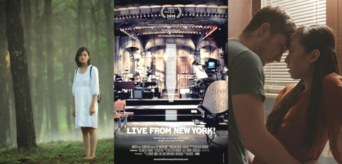 """Từ trái qua: """"Đập cánh giữa không trung"""", """"Live From New York"""" và """"Mùi hương nước mắm""""."""