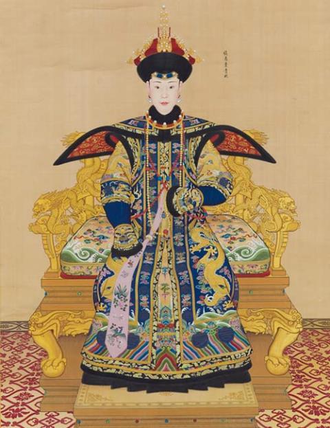 Bức chân dung Thuần Hoàng Quý Phi của họa sĩ Italy Giuseppe Castiglione. Ảnh: China.org