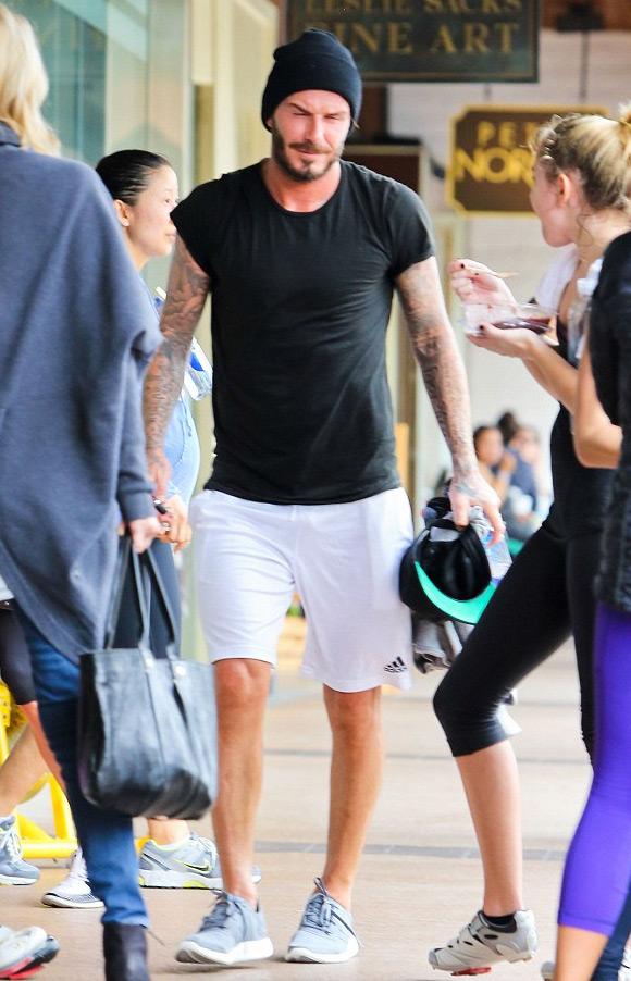David Beckham vốn là người rất chăm tập thể dục thể thao.