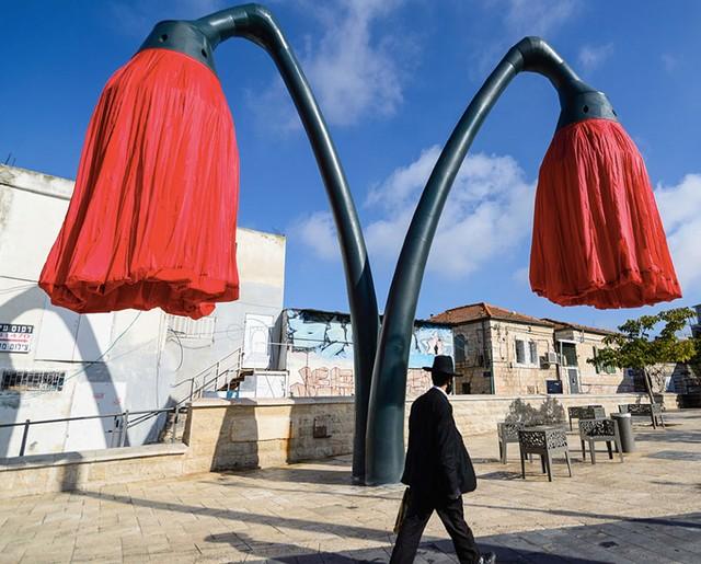 Đèn đường độc đáo trên đường phố Jerusalem