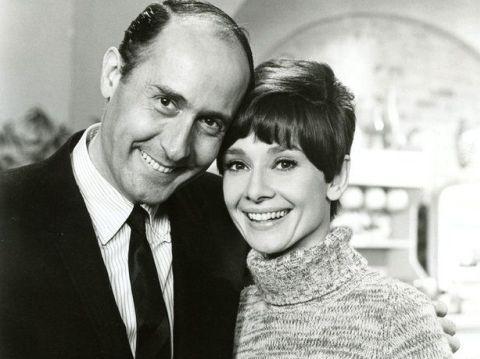 Nhà soạn nhạc Henry Mancini và huyền thoại Hollywood Audrey Hepburn.