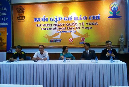 Buổi họp báo giới thiệu Ngày Quốc tế Yoga tại TPHCM