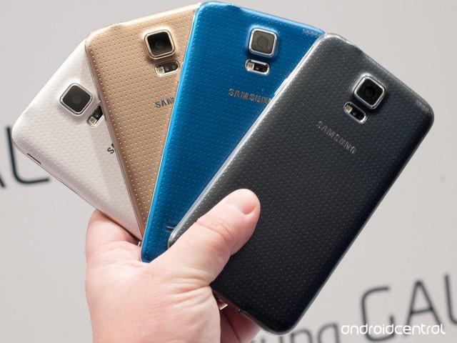 Các màu chính thức của Samsung Galaxy S5 (Ảnh: Trí Thức Trẻ)