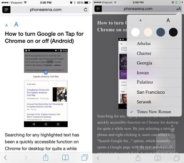 Cải thiện chế độ đọc trên trình duyệt Safari