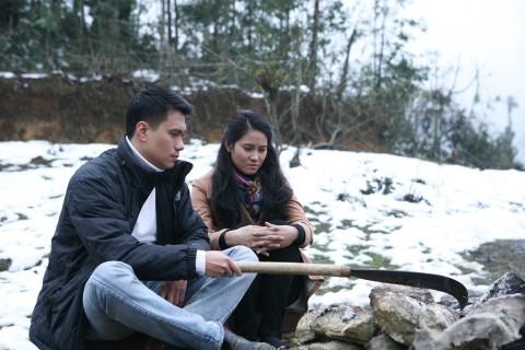 Diễn viên Việt Anh và Vân Anh trong phim Khi đàn chim trở về.
