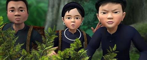 """Cảnh trong phim """"Kim Đồng""""."""