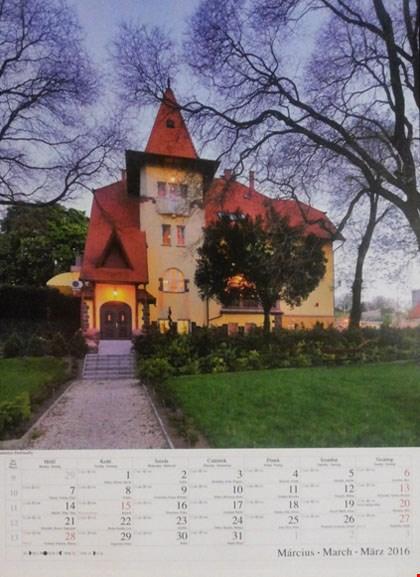 Lâu đài Fried do người Việt làm chủ đã được chọn vào Lịch Hungary 2016 - tờ tháng 3