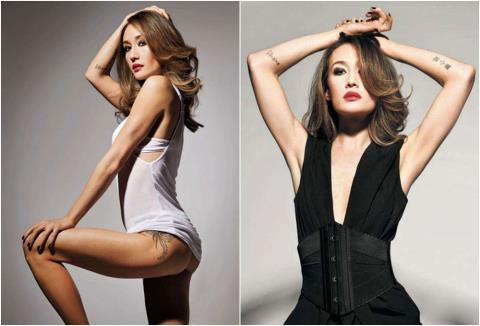 Cả ba hình xăm trên hông và hai cổ tay của Maggie Q được tiết lộ trong bộ ảnh tạp chí hồi năm 2012.