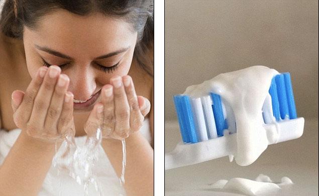 Hết mụn đầu đen: Có thể làm sạch mụn đầu đen bằng hỗn hợp bột nở, nước và kem đánh răng
