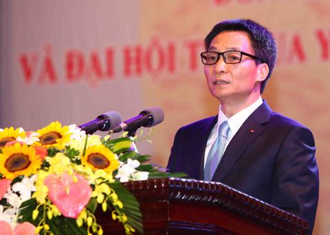 Phó Thủ tướng Vũ Đức Đam phát biểu tại buổi lễ. Ảnh: Quý Trung- TTXVN.