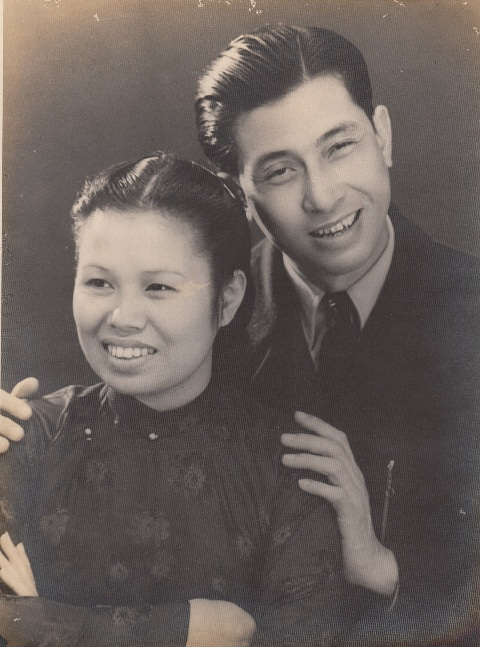 Vợ chồng NSND Sỹ Tiến - Khánh Hợi ngày trẻ thập niên 1950.