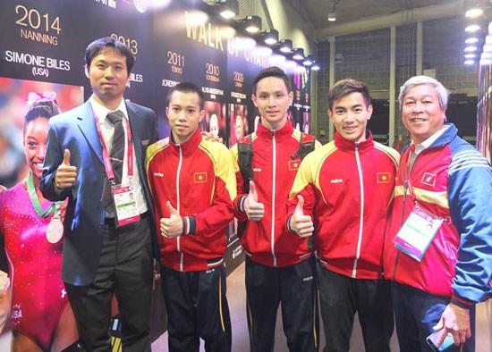 Đội tuyển thể dục dụng cụ nam Việt Nam thi đấu không thành công ở giải vô địch thế giới 2015 (Ảnh minh họa)
