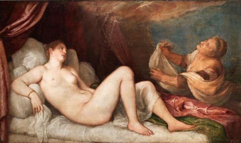 Bức tranh Danae của danh họa Titian.