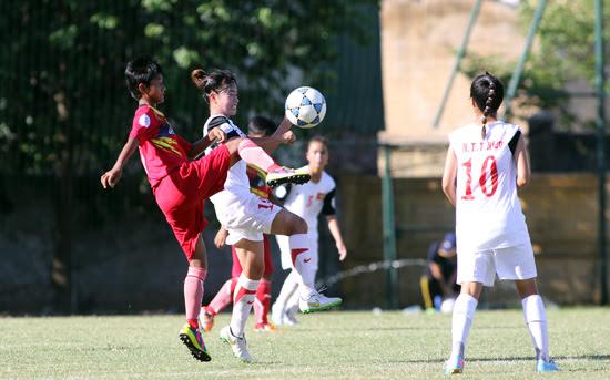 U14 Việt Nam đã có một trận đấu rất nỗ lực trước U14 Myanmar- Ảnh: Tuấn Tú
