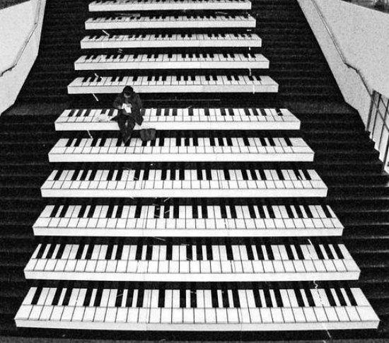 Nếu nhìn thoáng qua bức ảnh này, người xem sẽ nghĩ rằng đây là một bức tranh vẽ ấn tượng có hình đàn piano