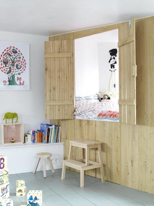 Thoát ra khỏi khuôn khổ của các mẫu giường tầng cổ điển, chiếc giường tầng đặc biệt này đã biến thành một căn phòng thu nhỏ dành cho các bé