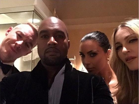 Diplo, Kanye West, Kim Kardashian và Madonna