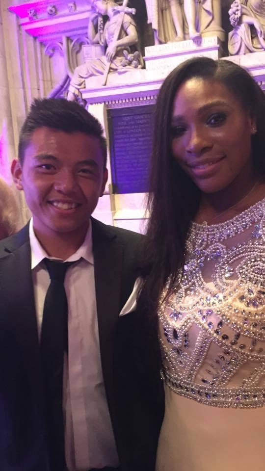 Anh cũng có cơ hội được gặp mặt tay vợt nữ số 1 thế giới Serena Williams