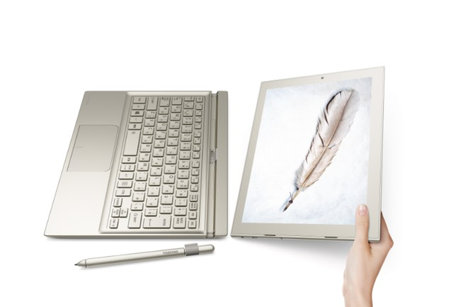 Tương tự như dòng sản phẩm Surface của Microsoft, DynaPad của Toshiba cũng có thể tháo rời bàn phím