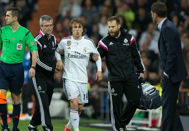 Modric cũng có khả năng sẽ vắng mặt ở trận derby Madrid tới.