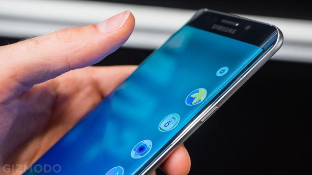 Màn hình cong của Galaxy S6 Edge Plus (Ảnh Gizmodo)