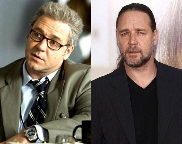 Võ sĩ giác đấu Russell Crowe tăng tới 28kg để đảm nhận vai điệp viên CIA trong bộ phim Body of Lies. Chia sẻ với tờ Extra, nam diễn viên cho biết anh bữa sáng của anh chỉ toàn humburger.