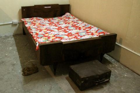 Còn đây là giường ngủ.