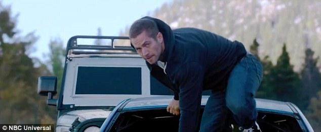 Tài tử quá cố Paul Walker trong một số cảnh phim (Ảnh: NBC)