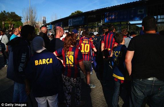 Các CĐV Barcelona rất tự tin vào một chiến thắng nữa của đội nhà.