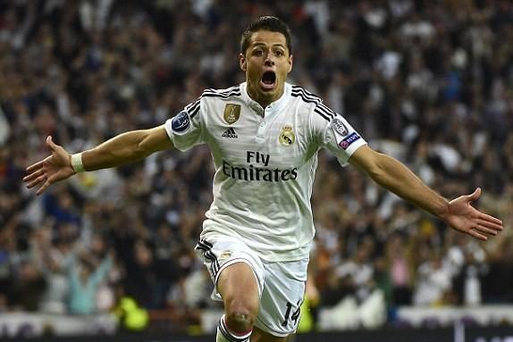 Vũ khí bí mật Chicharito đã giúp đưa Real vào bán kết Champions League 2014/15.