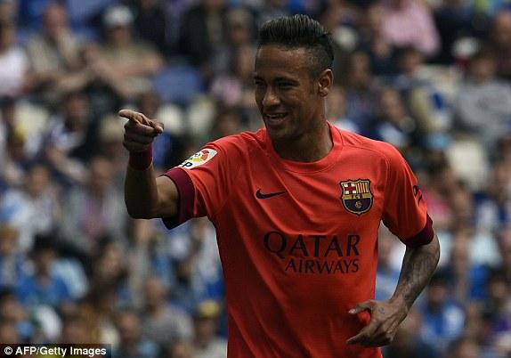Neymar mở tỷ số cho Barcelona ở phút 17
