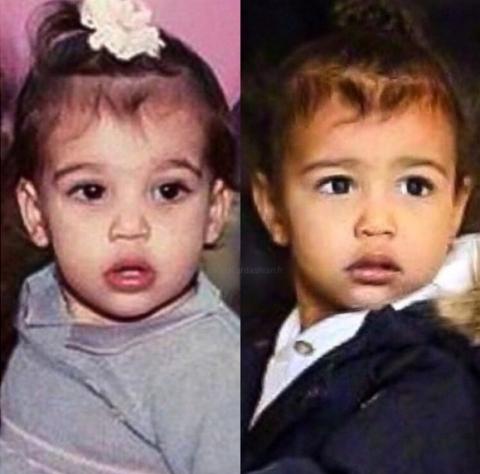 North West giống mẹ Kim Kardashian như đúc