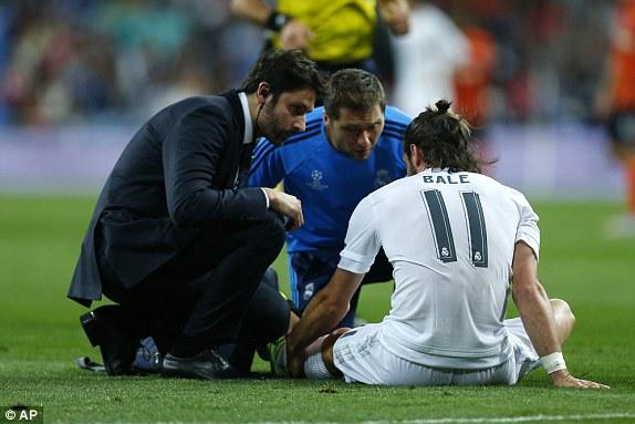 Dù thắng đậm tuy nhiên Real Madrid vẫn có nhiều nỗi lo khi Gareth Bale dính chấn thương.