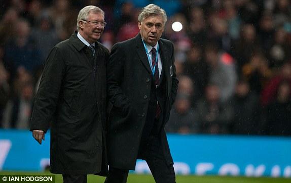 HLV hai đội là hai chiến lược gia lão luyện Alex Ferguson và Carlo Ancelotti