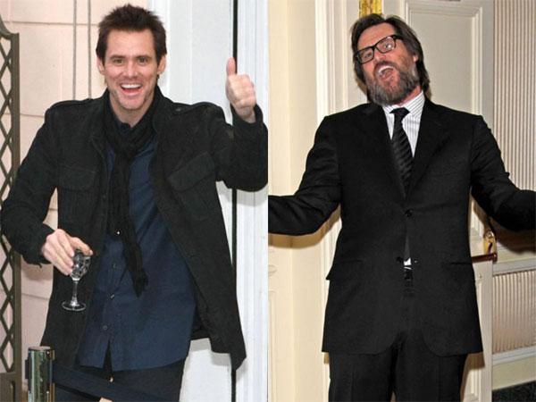 Khán giả khó có thể nhận ra vua hài Jim Carrey khi anh hóa thân thành nhân vật Curly trong bộ phim Ba chàng ngốc. Nam diễn viên trông già nua trong thân hình mập mạp và râu tóc rậm rạp.