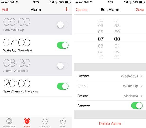 Người dùng nên kiểm tra lại cài đặt báo thức sau khi cập nhật iOS