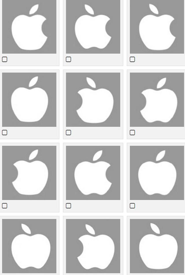 Chỉ 47% số người thử nghiệm chọn chính xác logo của Apple