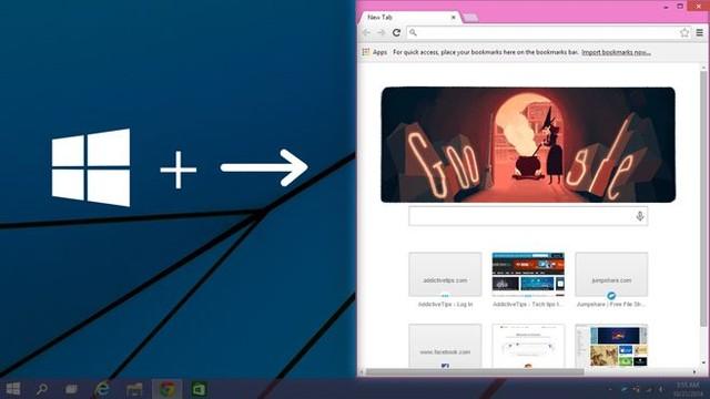Thu hẹp cửa sổ Windows sang trái hoặc sang phải màn hình