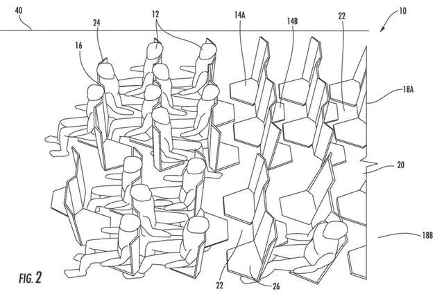 Các hành khách sẽ được bố trí ngồi đối diện với nhau thay vì ngồi ngang hàng như thiết kế chỗ ngồi hiện nay