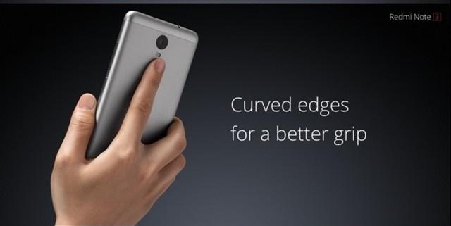 Redmi Note 3 sở hữu thiết kế kim loại nguyên khối với cảm biến vân tay phía sau