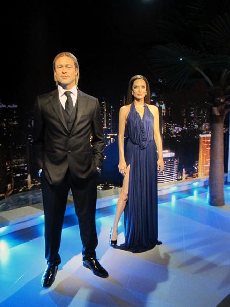 Tượng sáp cặp đôi diễn viên Brad Pitt và Angelina Jolie