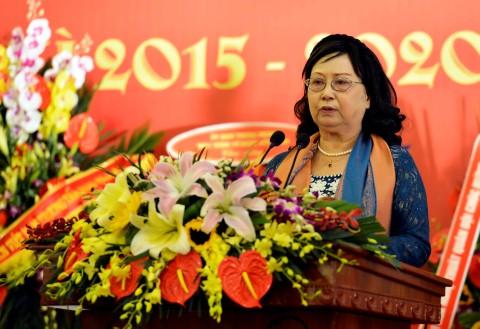 NSND Chu Thúy Quỳnh tái đắc cử Chủ tịch Hội Nghệ sĩ múa Việt Nam nhiệm kỳ 2015 - 2020. Ảnh: Thanh Hà - TTXVN