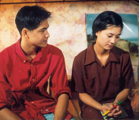 Diễn viên Lê Vũ Long ở một cảnh trong phim Xin hãy tin em