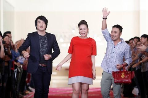 Bộ ba giám khảo (từ trái sang): Thanh Bùi - Thu Minh - Nguyễn Quang Dũng tại vòng Auditon tại TP.HCM của Vietnam Idol.