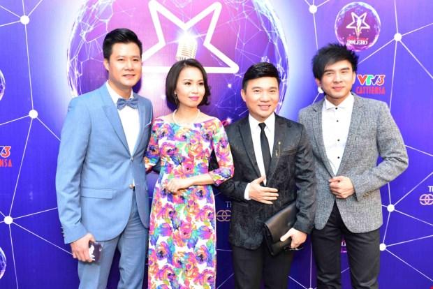 Bốn giám khảo trong cuộc họp báo ra mắt chương trình.
