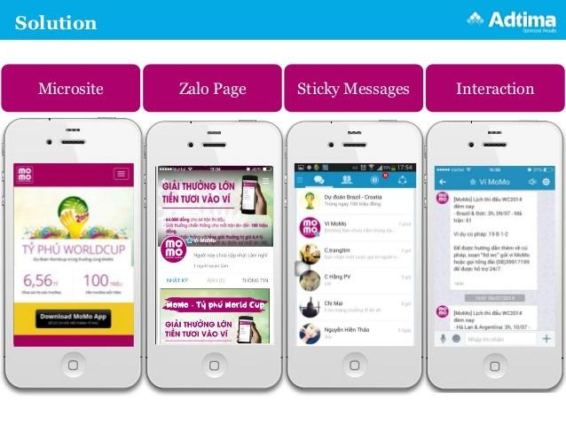 Sticky message trên Zalo được nhiều doanh nghiệp lựa chọn để quảng cáo.